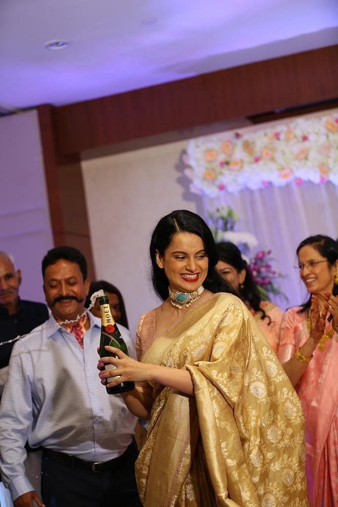 Kangana Ranaut celebrating brother Aksht's engagement