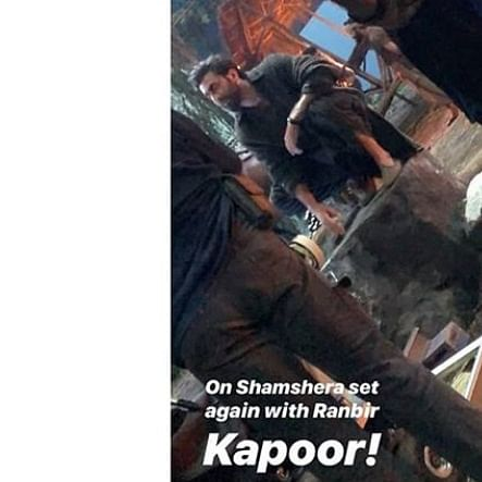 Ranbir Kapoor leaked photo from the sets of Shamshera