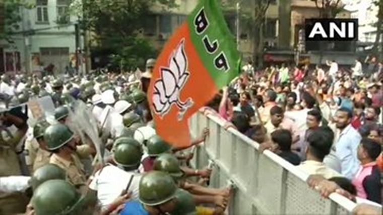 BJP activists create buzz over dengue cases, clash with cops during Kolkata rally