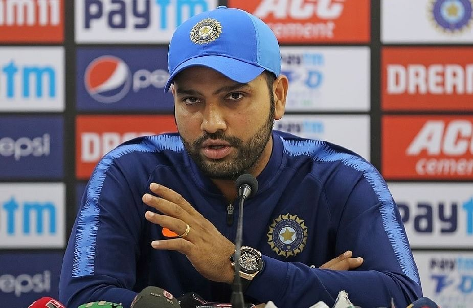 Rohit Sharma during a press conference