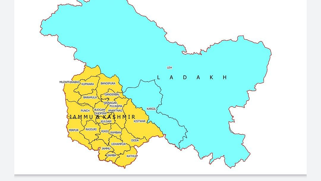 3 PoK districts in new J&K map