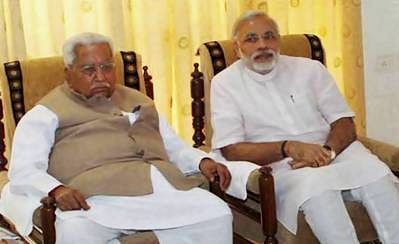 Modi seeks Keshubhai Patel's blessings after poll win
