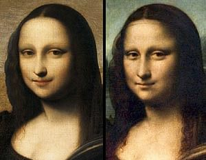 The Isleworth Mona Lisa (left) is now believed to be an earlier Da Vinci portrait of the woman who posed for his most famous work.