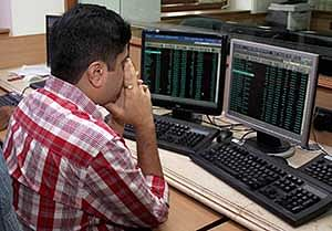 Sensex slips into the red after RBI lowers GDP forecast to 6.1%