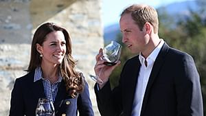 Prince William and his wife Catherine, take part in a visit to a Winery in Queenstown.