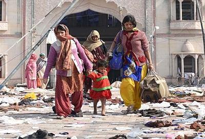 'Godman's followers holed up inside ashram still coming out