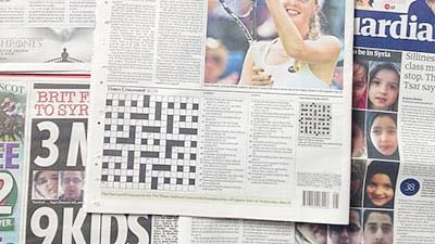 Puzzled' Welsh bride accepts Times 'crossword' proposal