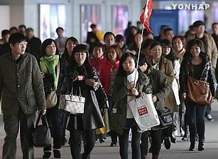 Number of foreign visitors to South Korea drops