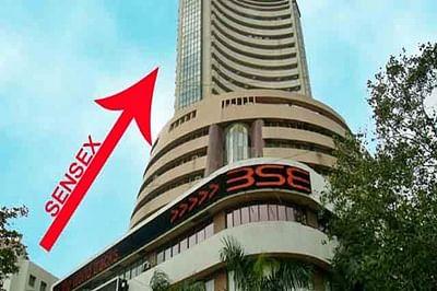 Sensex starts to falter, but still up 67 pts
