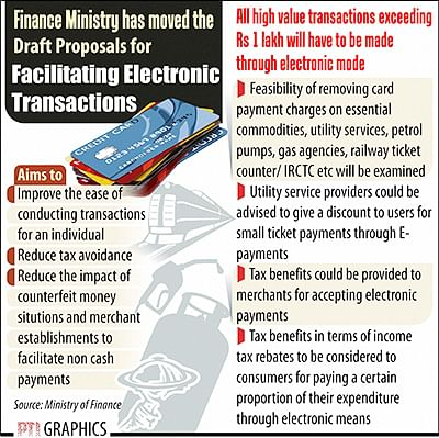 FinMin moves draft note  to incentivise e-payments