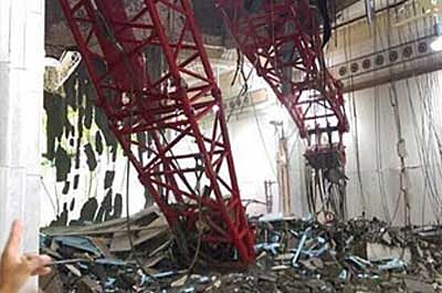 65 die as crane falls on Mecca's Grand Mosque