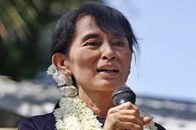 Suu Kyi takes election bid to Myanmar's strife-torn Rakhine