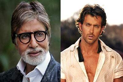 Amitabh Bachchan and Hrithik Roshan in Dhoom 4