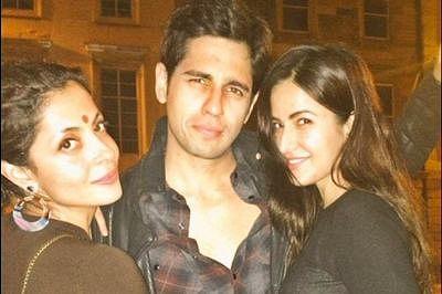 Sidharth Malhotra Katrina Kaif at Baar Baar Dekho wrap up party