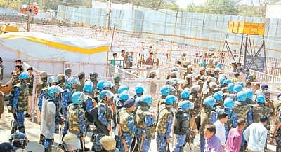 Security ramped up at Bhojshala