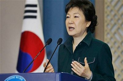 South Korea's leader warns of North Korea collapse