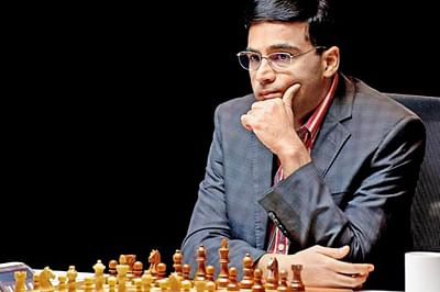 India`s Viswanathan Anand is pictured during the Norway Chess 2013 Blitz tournament in Sandnes near Stavanger, on May 9, 2013. AFP PHOTO / SCANPIX NORWAY / KENT SKIBSTADT      NORWAY OUT
