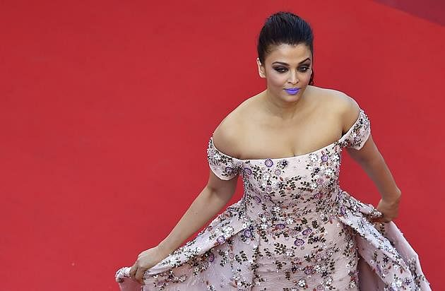 """Aishwarya Rai poses for the screening of the film """"Mal de Pierres (From the Land of the Moon)"""" at the 69th Cannes Film Festival in Cannes, southern France."""