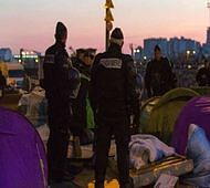 More than 1,000 people evacuated from Paris migrant camp