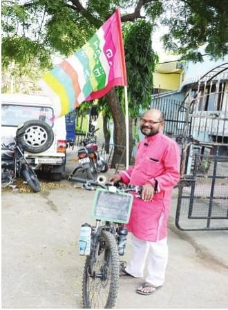 Fired by passion to end gender inequality, he has traversed 16K km on cycle