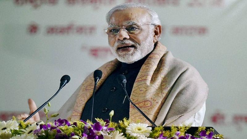 Mumbai: PM Modi performs 'Jal Puja' for Shivaji memorial foundation ceremony