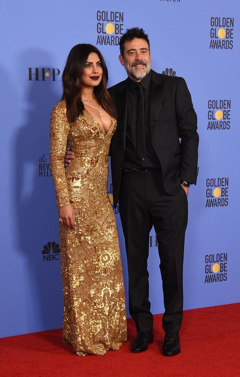Actress Priyanka Chopra and actor Jeffrey Dean Morgan