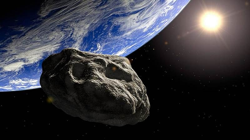This asteroid avoids collision with Jupiter