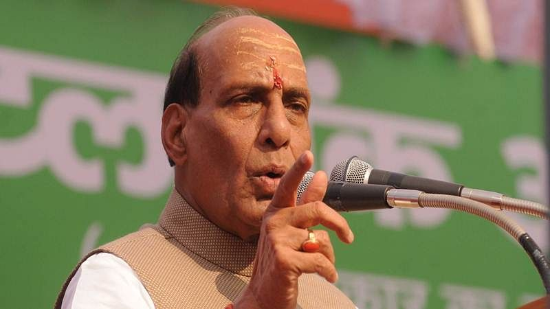 National resolve led to freedom, not agitation by a party: Rajnath Singh