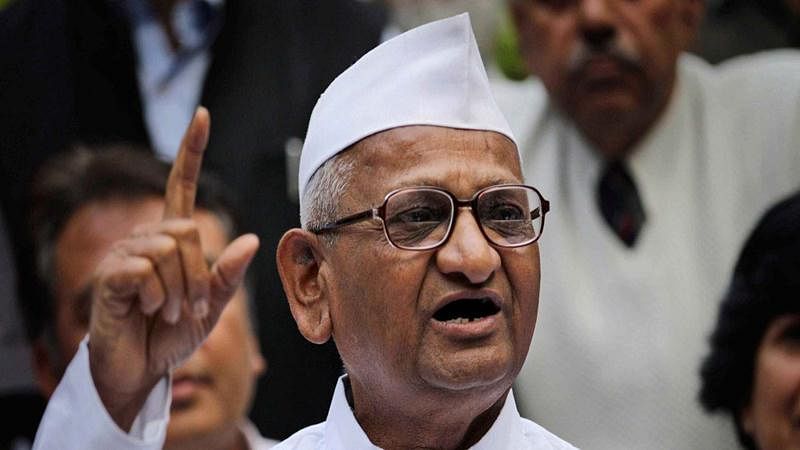 Anna Hazare to go on hunger strike from October 2 to protest against delay in appointing Lokpal