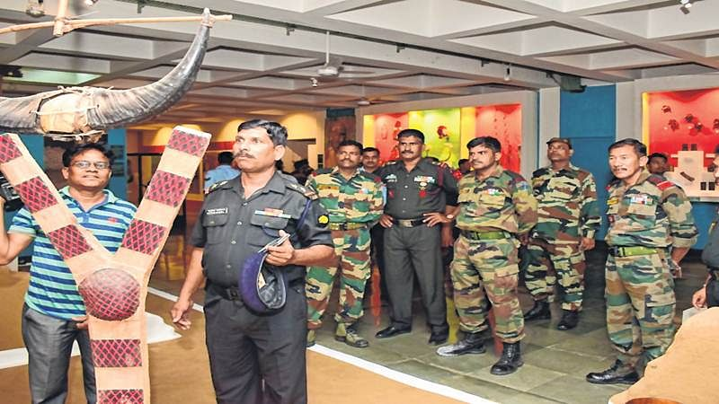 Bhopal: Armymen at IGRMS on special tour