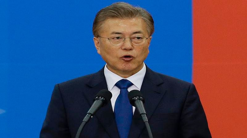 South Korea's Moon Jae-In says willing to go to North at swearing-in