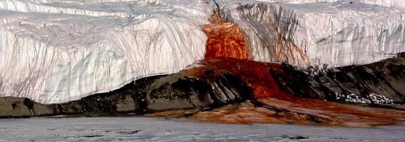 Mystery behind bloody waterfall revealed