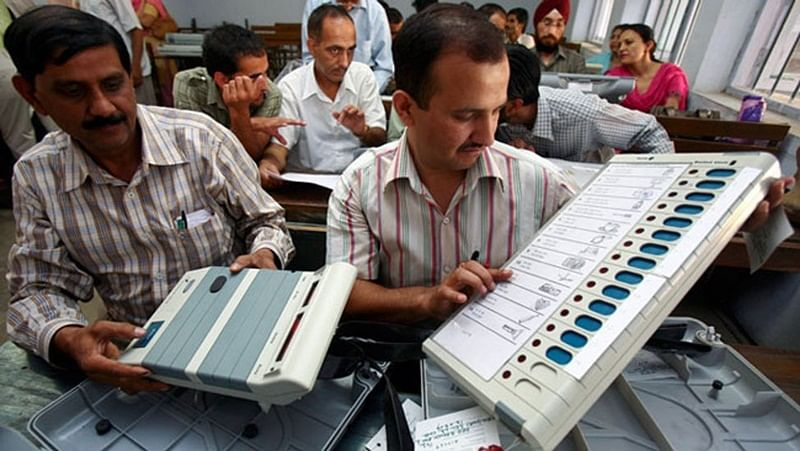 Officials with EVMs