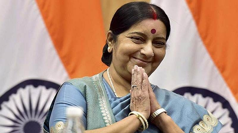 Witty! Sushma Swaraj says will help Indians even if they are stuck on Mars