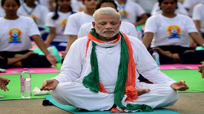 Gearing up for Yoga Day, PM Modi posts 'Vakrasana' video