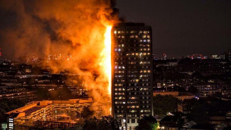 London fire: Firefighters douse blaze, 17 killed