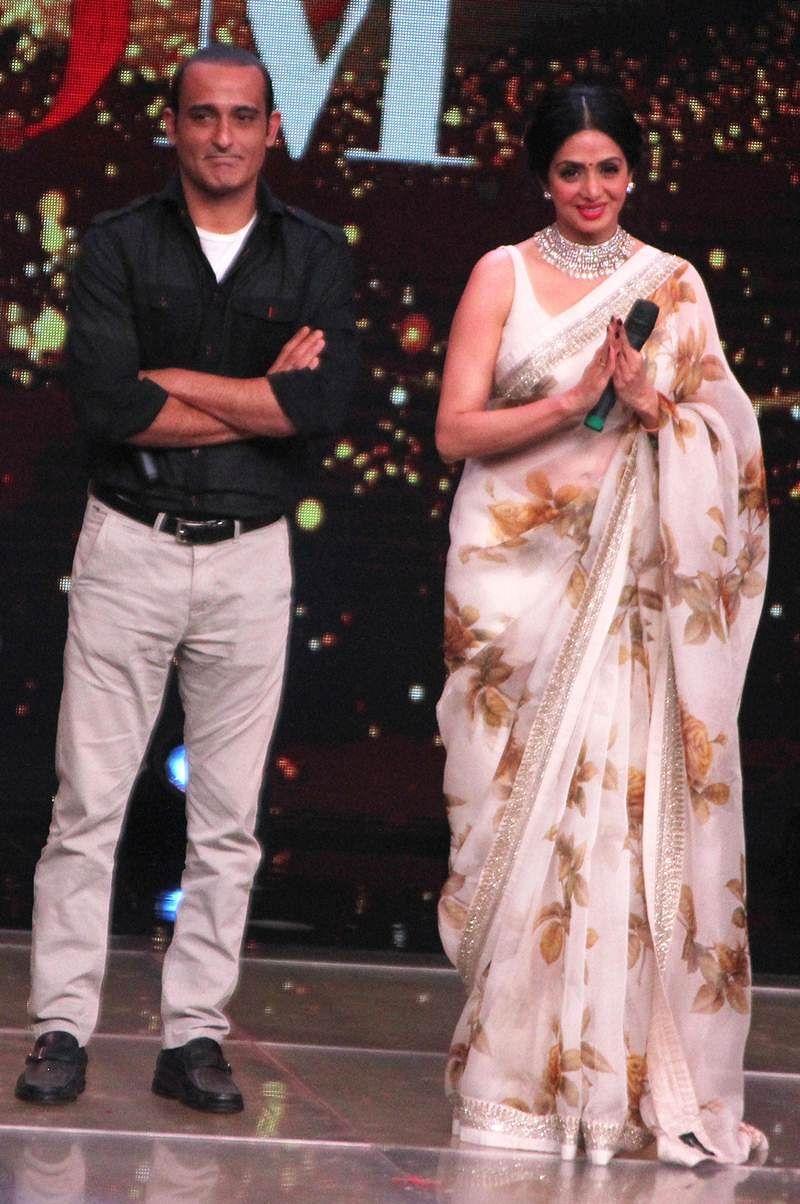 In Pictures: Akshaye Khanna, Sridevi promote 'Mom' on Sa Re Ga Ma Pa