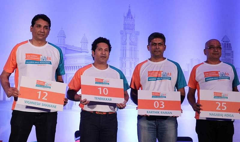 At an event of IDBI Life Insurance Mumbai Half Marathon Tendulkar recalls 1998 Sharjah knocks against Aussies
