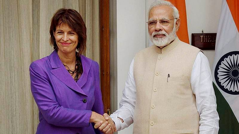 Swiss President stresses on partnership in programmes like Skill India, Digital India