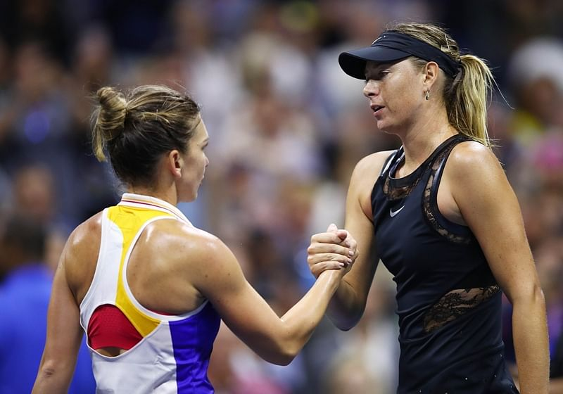 US Open: Sharapova defeats Halep in three-set thriller on return from doping ban