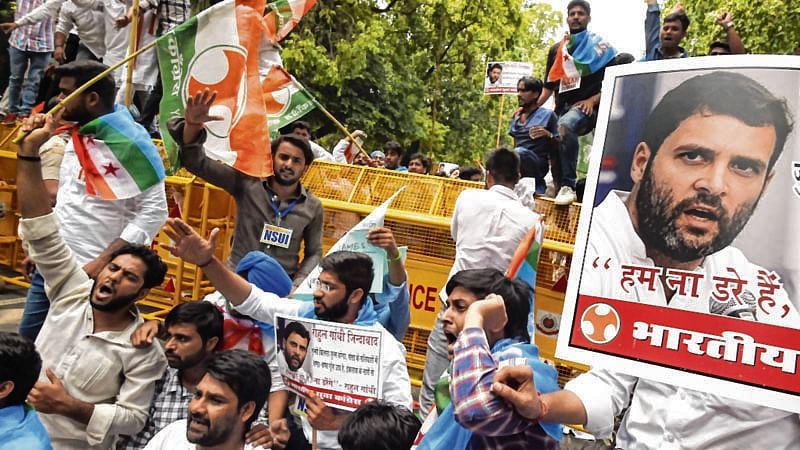 BJP youth outfit leader held  for attack on Rahul Gandhi