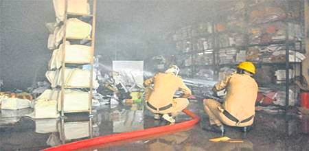 Ujjain: VU confidential dept catches fire, PhD section completely gutted