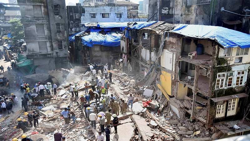 Five-storey building collapse in Ulhasnagar; none hurt