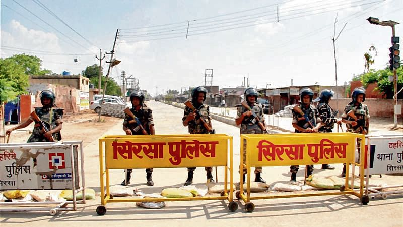 Demonestised notes and drugs without labels seized from Dera