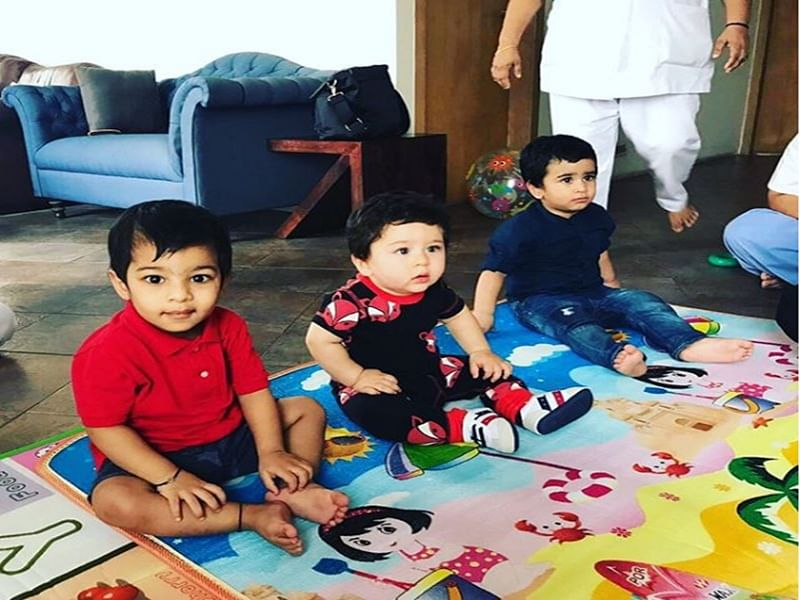 Awwdorable! Taimur Ali Khan and Laksshya Kapoor's play time is a treat to watch