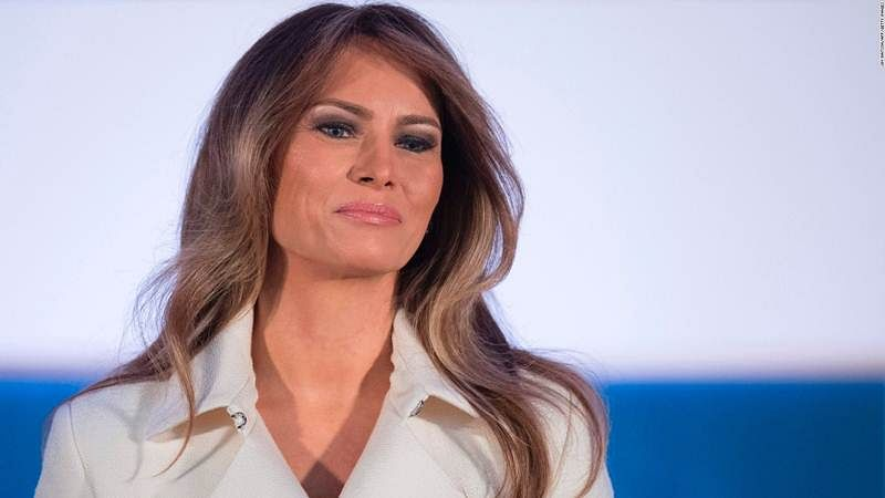 Melania reappears after vanishing act