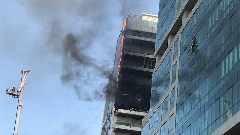 Watch Video: Major fire breaks out near Vashi station in Navi Mumbai