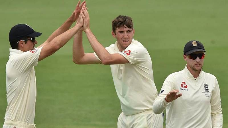 Ashes 2017-18: Craig Overton strikes twice to boost England after first-innings 403