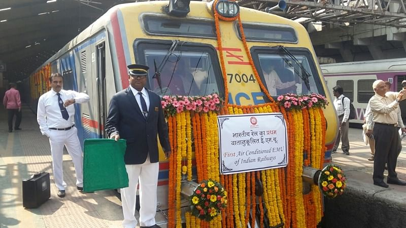 Indian Railways flags off first AC local train Mumbai commuters