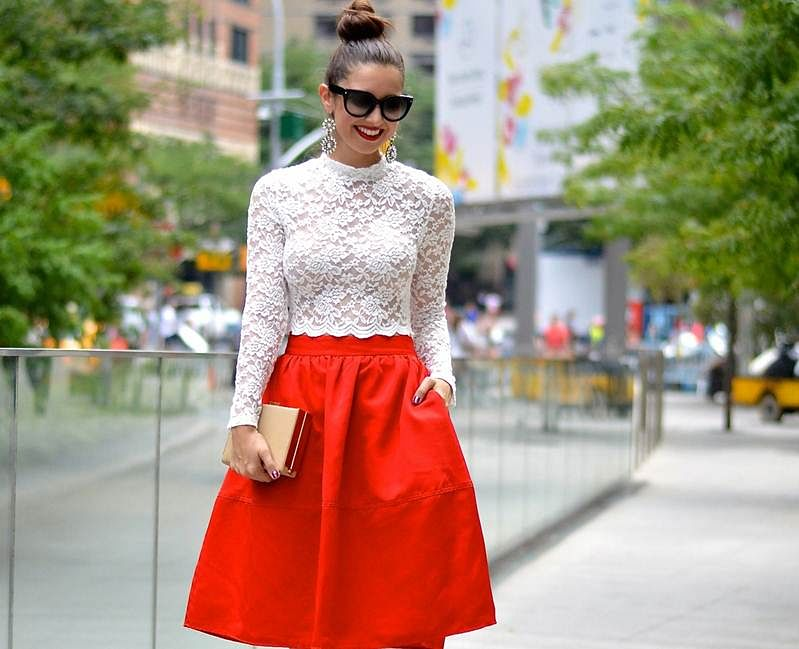 Mid-length skirts are in vogue again, flaunt them in style